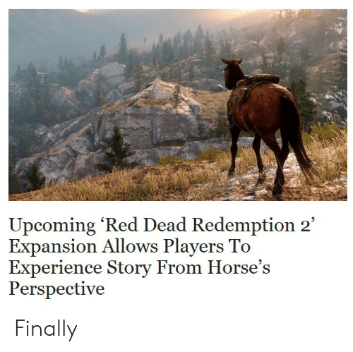 Horses, Experience, and Red Dead Redemption: Upcoming 'Red Dead Redemption 2  Expansion Allows Players To  Experience Story From Horse's  Perspective Finally