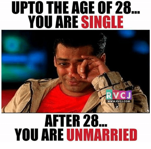 UPTO THE AGE OF 28 YOU ARE SINGLE RVC J WWWRVCJCOM AFTER 28