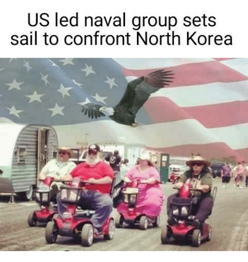 Dank, North Korea, and 🤖: US led naval group sets  sail to confront North Korea