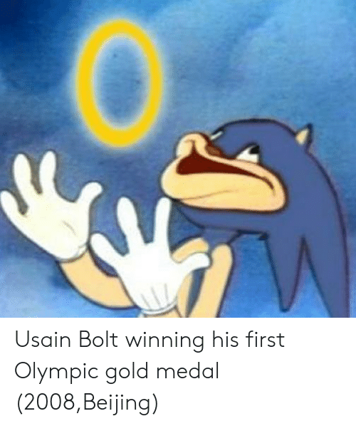Beijing: Usain Bolt winning his first Olympic gold medal (2008,Beijing)