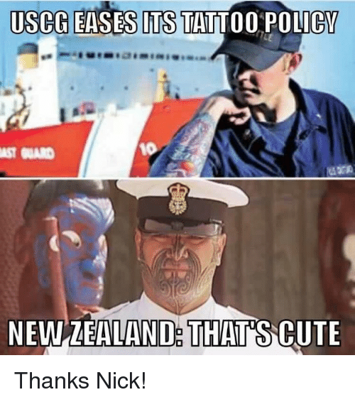 25 best memes about newzealand newzealand memes for Tattoo requirements for national guard