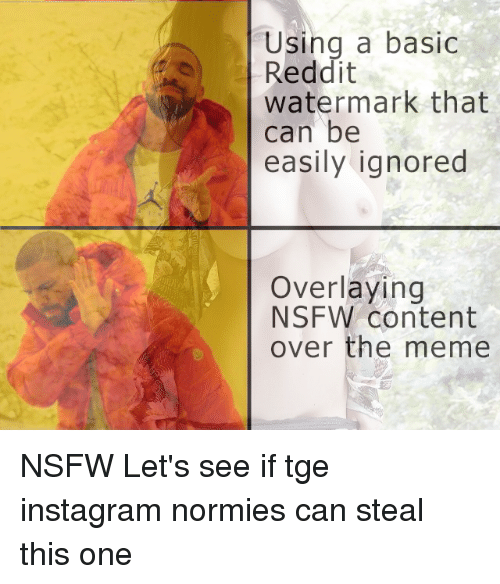 Using a Basic Reddit Watermark That Can Be Easily Ignored Overlaying