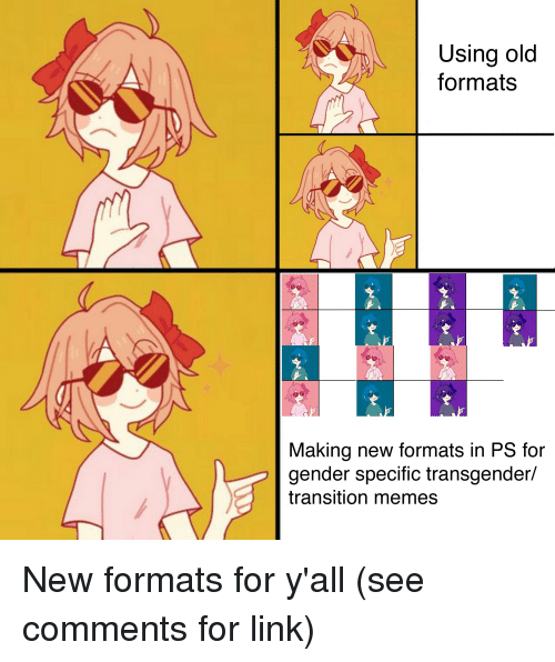 Using Old Formats Making New Formats In Ps For Gender Specific