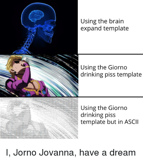 Using the Brain Expand Template Using the Giorno Drinking