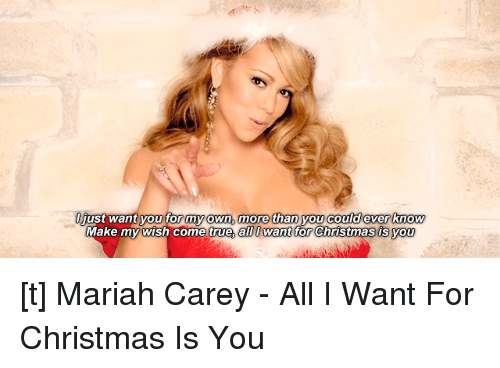 All I Want For Christmas Meme.Uust Want You For My Own More Than You Could Ever Know Make