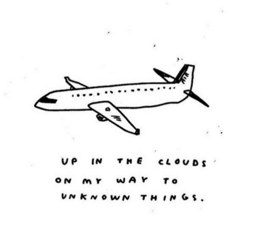 Clouds, Unknown, and  Things: V P  THE  IN  CLOUDS  WAY  ON  To  UNKNOWN THINGS.