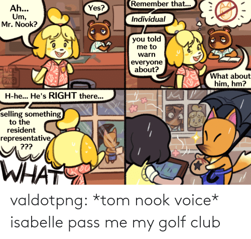 Golf: valdotpng:  *tom nook voice* isabelle pass me my golf club
