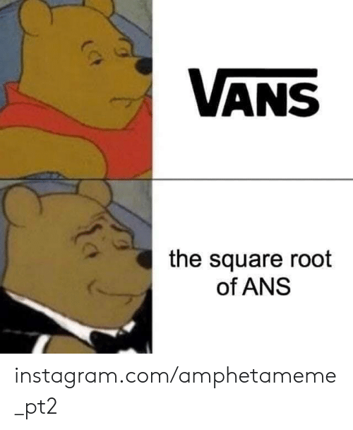Vans: VANS  the square root  of ANS instagram.com/amphetameme_pt2