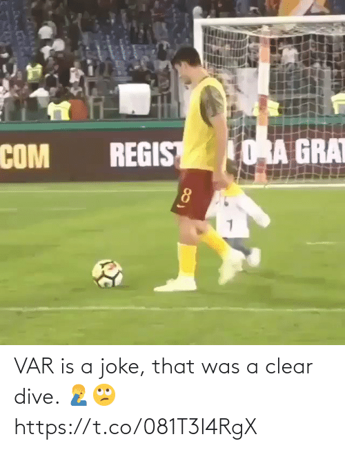 clear: VAR is a joke, that was a clear dive. 🤦♂️🙄 https://t.co/081T3I4RgX