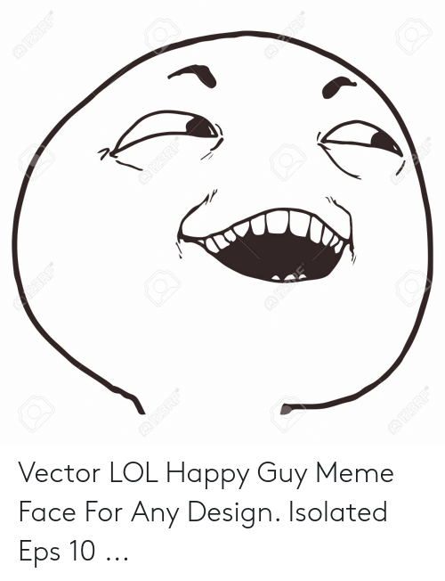 Lol, Meme, and Happy: Vector LOL Happy Guy Meme Face For Any Design. Isolated Eps 10 ...