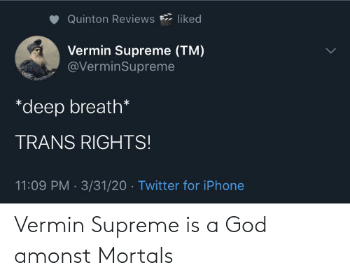 Supreme: Vermin Supreme is a God amonst Mortals