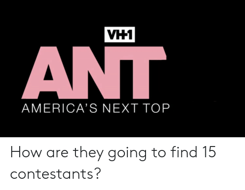 How, Next, and Top: VH1  AMERICA'S NEXT TOP How are they going to find 15 contestants?