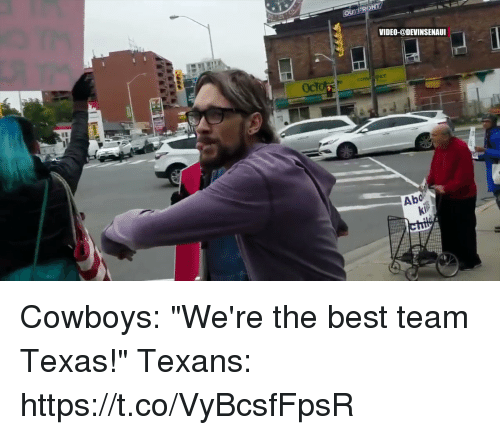 "Dallas Cowboys, Football, and Nfl: VIDEO-@DEVINSENAUI  Abo Cowboys: ""We're the best team Texas!""   Texans: https://t.co/VyBcsfFpsR"