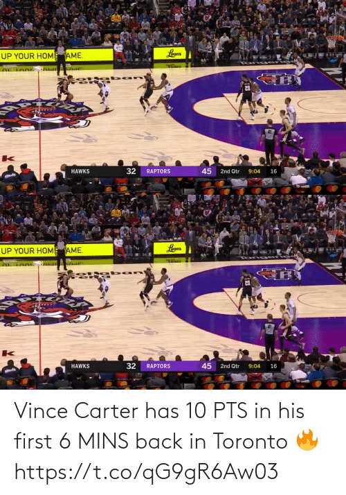 Back In: Vince Carter has 10 PTS in his first 6 MINS back in Toronto 🔥  https://t.co/qG9gR6Aw03