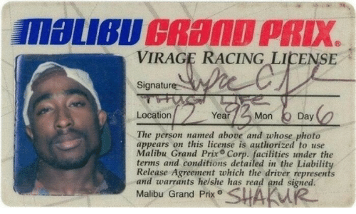 Grand, Corp, and Malibu: VIRAGE RACING LICENSE  Signature  Location  Year  Mon Day  The person named above and whose photo  appears on this license is authorized to use  Malibu Grand Prix Corp. facilities under the  terms and conditions detailed in the Liability  Release Agreement which the driver represents  and warrants helshe has read and signed.  Malibu Grand Prx SHAKW
