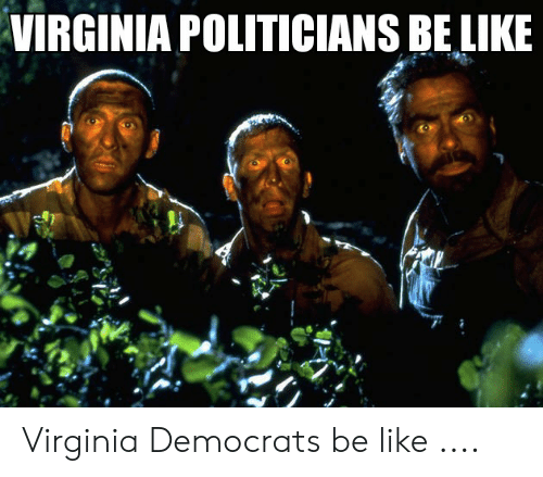 Be Like, Meme, and Virginia: VIRGINIA POLITICIANS BE LIKE Virginia Democrats be like ....