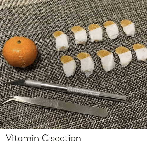 c section: Vitamin C section