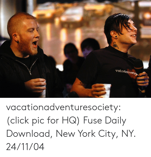 Click, New York, and Tumblr: voiceinthevirn vacationadventuresociety: (click pic for HQ) Fuse Daily Download, New York City, NY. 24/11/04