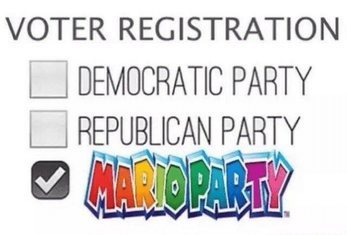 Party, Democratic Party, and Republican Party: VOTER REGISTRATION  LI DEMOCRATIC PARTY  REPUBLICAN PARTY  AROPART