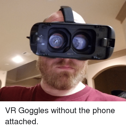 goggles: VR Goggles without the phone attached.
