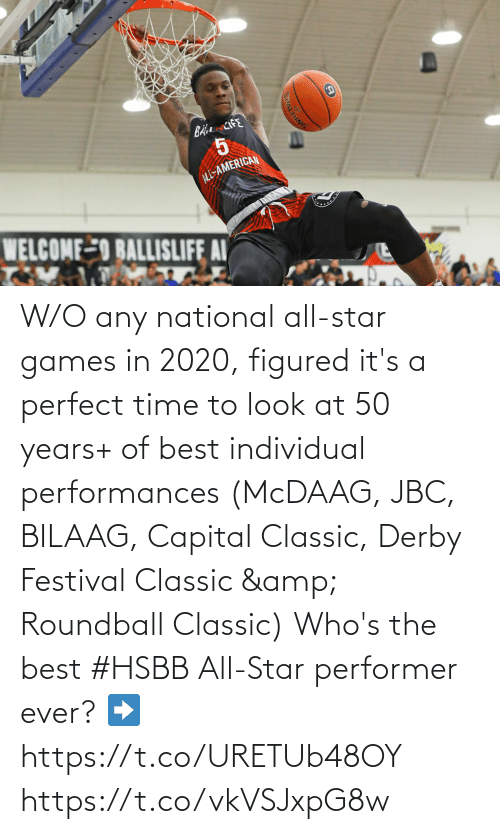 classic: W/O any national all-star games in 2020, figured it's a perfect time to look at 50 years+ of best individual performances (McDAAG, JBC, BILAAG, Capital Classic, Derby Festival Classic & Roundball Classic)  Who's the best #HSBB All-Star performer ever?   ➡️https://t.co/URETUb48OY https://t.co/vkVSJxpG8w