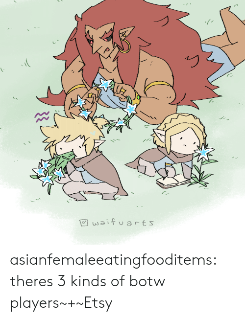 Tumblr, Blog, and Etsy: waif uarts asianfemaleeatingfooditems:  theres 3 kinds of botw players~+~Etsy