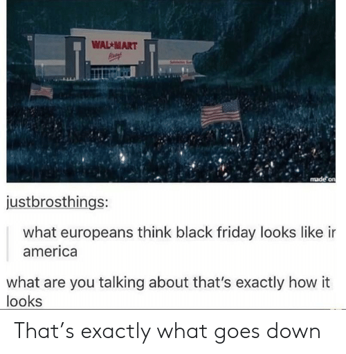 what-are-you-talking-about: WAL -MART  justbrosthings:  what europeans think black friday looks like ir  america  what are you talking about that's exactly how it  looks That's exactly what goes down