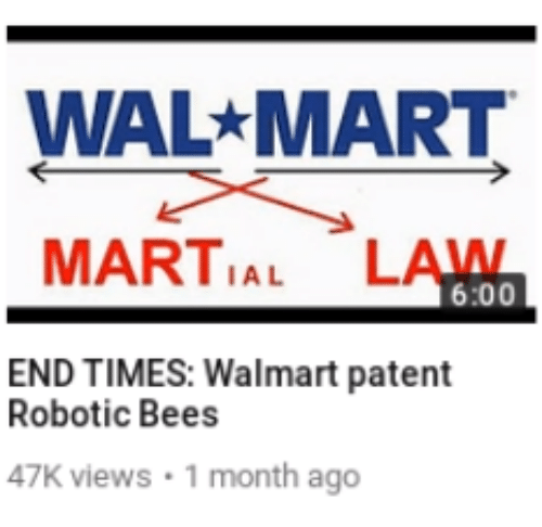 Wal Mart, Walmart, and Martial: WAL MART  MARTIAL LAWN  6:00  END TIMES: Walmart patent  Robotic Bees  47K views 1 month ago