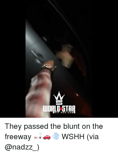 Memes, Wshh, and Star: WAL STAR  HIP HOP.CO M They passed the blunt on the freeway 🚬🚗💨 WSHH (via @nadzz_)