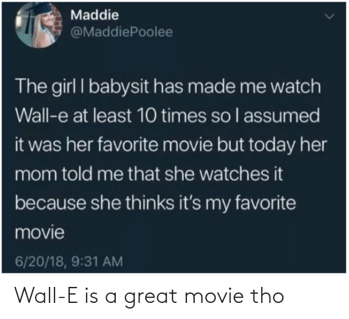 wall: Wall-E is a great movie tho