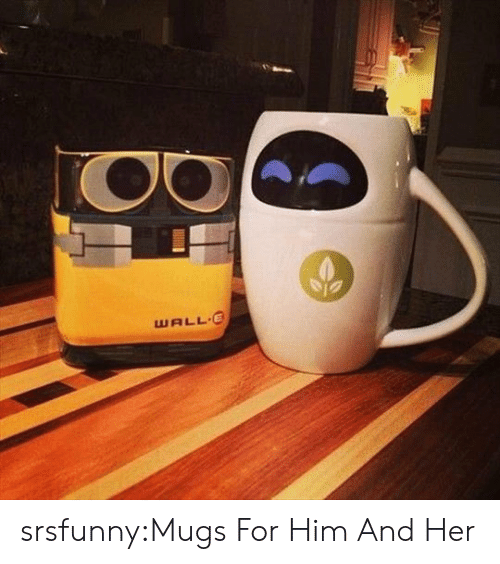 Tumblr, Blog, and Http: WALL E srsfunny:Mugs For Him And Her