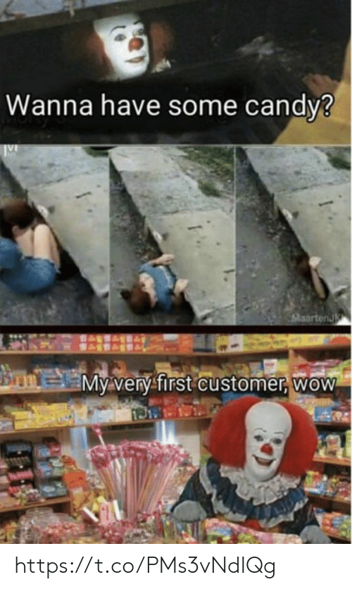 Memes, Wow, and 🤖: Wanna have some candy3  aartenJ  My very first customer, woW https://t.co/PMs3vNdIQg