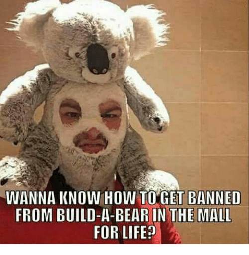 Build a Bear: WANNA KNOW HOW TO GET BANNED  FROM BUILD-A-BEAR IN THE MALL  FOR LIFE?
