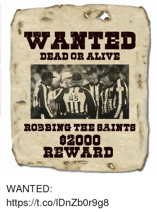 Alive, Dead or Alive, and Football: WANTED  DEAD OR ALIVE  7  LJ  $2000  REWARD WANTED: https://t.co/lDnZb0r9g8