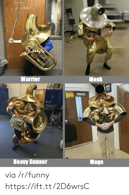 Funny, Warrior, and Monk: Warrior  Monk  Heavy Gunner  Mage  via /r/funny https://ift.tt/2D6wrsC