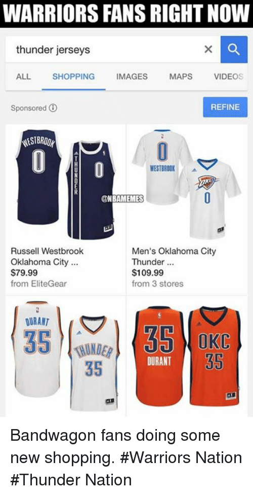 945b54508df Nba, Thunder, and Nationals: WARRIORS FANS RIGHT NOW thunder jerseys ALL  SHOPPING IMAGES