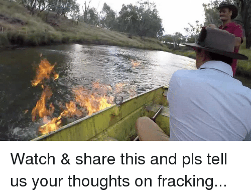 Memes, Fracking, and 🤖: Watch & share this and pls tell us your thoughts on fracking...