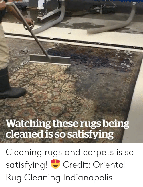 Indianapolis, Rugs, and Satisfying: Watching theserugs being  cleaned is so satisfying  otuon Cleaning rugs and carpets is so satisfying! 😍  Credit: Oriental Rug Cleaning Indianapolis