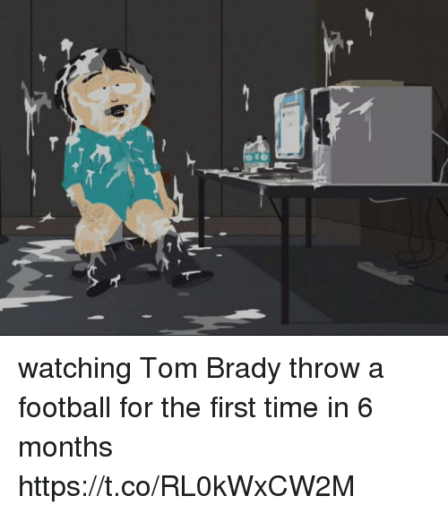 Football, Memes, and Tom Brady: watching Tom Brady throw a football for the first time in 6 months https://t.co/RL0kWxCW2M