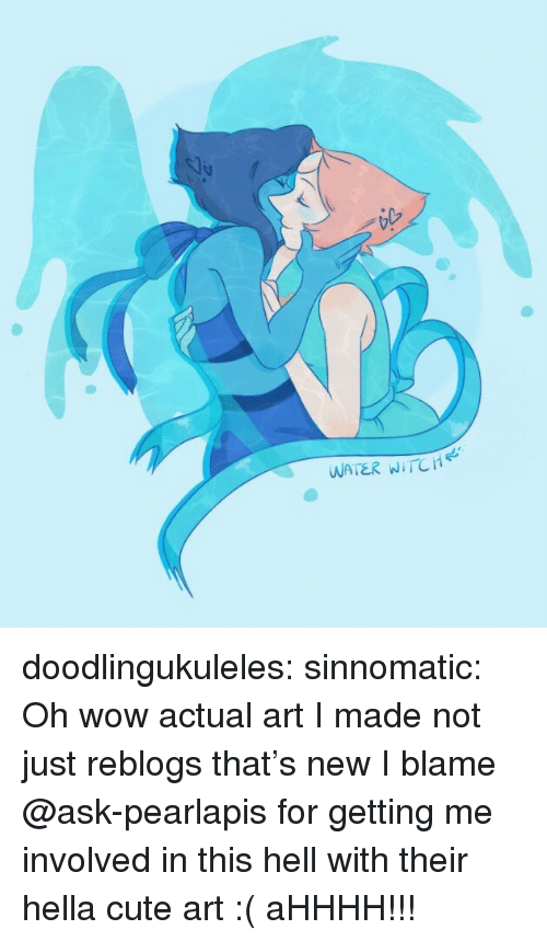 Cute, Target, and Tumblr: WATER WITCH doodlingukuleles: sinnomatic:  Oh wow actual art I made not just reblogs that's new  I blame @ask-pearlapis for getting me involved in this hell with their hella cute art :(  aHHHH!!!