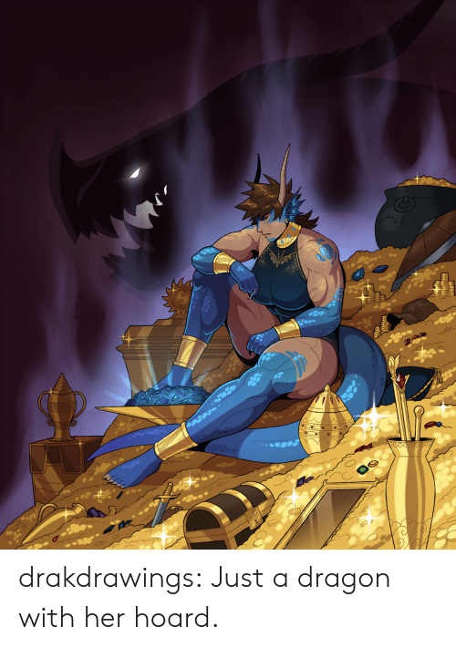 Hoard: WAVA  eece drakdrawings:  Just a dragon with her hoard.