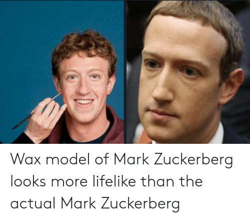 Mark Zuckerberg: Wax model of Mark Zuckerberg looks more lifelike than the actual Mark Zuckerberg