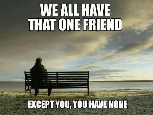 That One Friend: WE ALL HAVE  THAT ONE FRIEND  EXCEPT YOU, YOU HAVE NONE