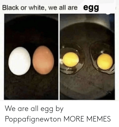 We Are: We are all egg by Poppafignewton MORE MEMES
