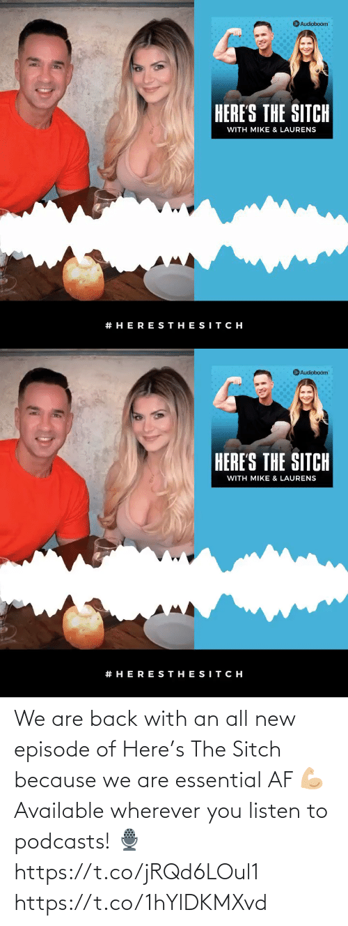 AF: We are back with an all new episode of Here's The Sitch because we are essential AF 💪🏼 Available wherever you listen to podcasts!  🎙 https://t.co/jRQd6LOul1 https://t.co/1hYlDKMXvd