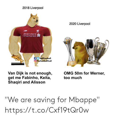 """We Are: """"We are saving for Mbappe""""  https://t.co/Cxf19tQr0w"""