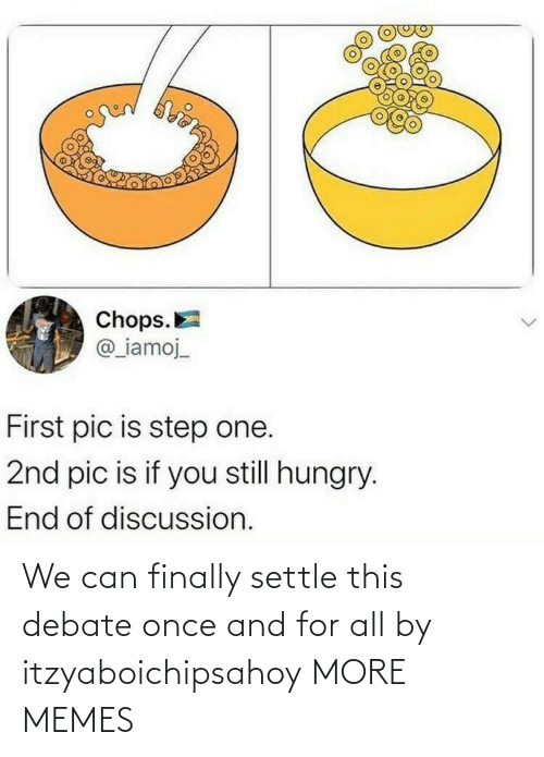 once: We can finally settle this debate once and for all by itzyaboichipsahoy MORE MEMES
