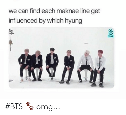 Omg, Bts, and Can: we can find each maknae line get  influenced by which hyung  VLIVE #BTS 🐾 omg...
