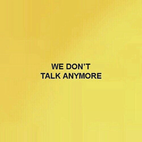 Anymore,  Dont, and Talk: WE DON'T  TALK ANYMORE