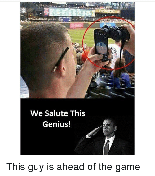 Memes, The Game, and Game: We Salute This  Genius! This guy is ahead of the game